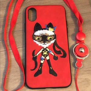 Accessories - New phone case for an IPhone X/xs-  ninja cat